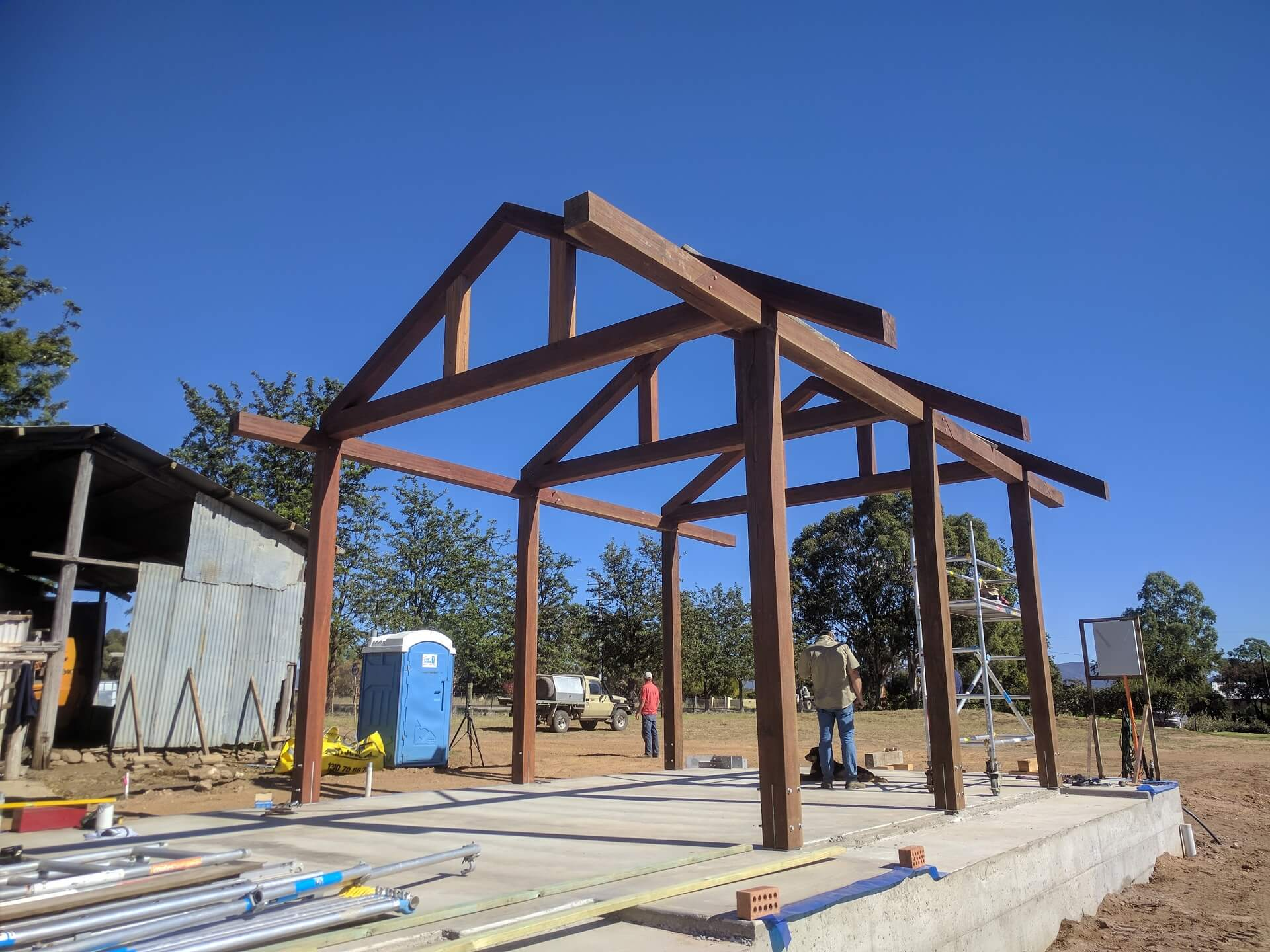 The Black Shed's architectual feature frame handcrafted from Australian hardwood